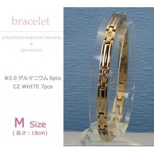 MARE(マーレ) スワロフスキー&ゲルマニウムブレスレット PG/IP ミラー 137M 18cm