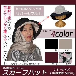 紫外線防止アイテム スカーフハット