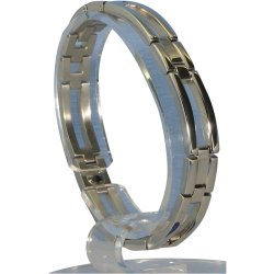MARE(マーレ) ゲルマニウム4個付ブレスレット PT/IP ミラー 113G L (20.5cm) H1126-05L
