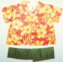 画像1: 男子90Tシャツ・アロハシャツ・パンツ3点セット