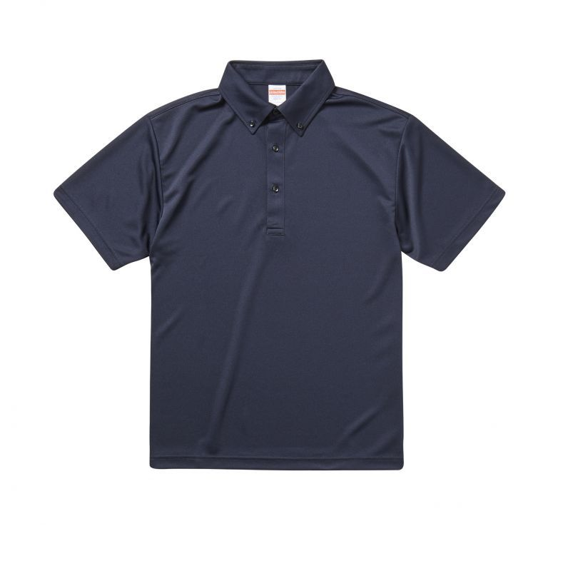 4.1オンス ドライアスレチック ポロシャツ(ボタンダウン) 9カラー ユニセックス「通販百貨 Happy Puppy」