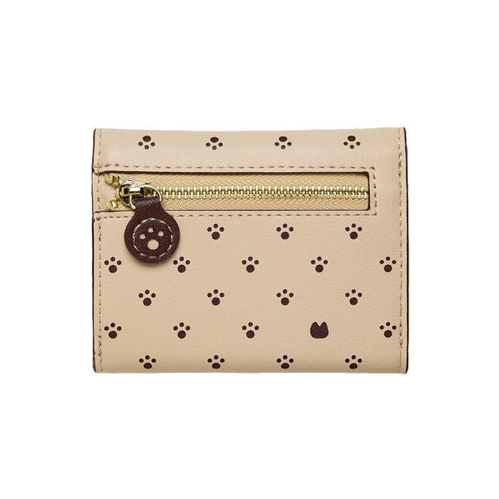 Minette 三つ折り財布 MWT-MIN04 ブラウン「通販百貨 Happy Puppy」